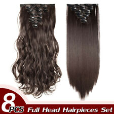 100% Thick Clip In Hair Extension AS Human Full Head Hair Extensions Ombre Curly