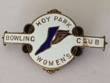Hoy Park Womens Bowling Club Badge Rare Vintage Some Wear (K9)