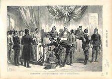 Conseil de révision ALSACE LORRAINE MULHOUSE RECRUTEMENT ARMÉE FRANCE 1874