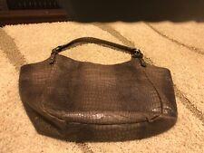 Brahmin Jacqueline Leather Large Hobo Shoulder Bag Purse Gray 375db4f2ed