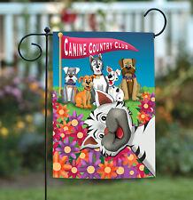 Toland Photobomb Cat 12.5 x 18 Funny Puppy Dog Photo Kitty Flower Garden Flag