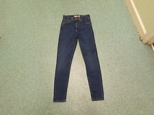 "Moto Jamie Jeans Waist 25"" Leg 26"" Faded Dark Blue Ladies Jeans"