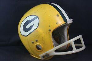 Vtg 1964 Wilson Etholite Green Bay Packers Glory Days Style Football Helmet