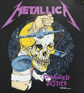 Metallica - Damaged Justice - 3 Inch Square Promo Patch WOVEN BADGE T-shirt, NEW