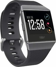 Fitbit Ionic Fitness Watch - Black Charcoal Smoke/Grey- Large - Free Delivery!!!