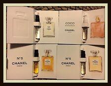 4 x Chanel : Chanel No 5 & No 5 Premiere, No 5 L'eau, Coco Mademoiselle Samples