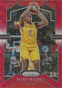 2020 WNBA PANINI PRIZM * KELSEY MITCHELL * RUBY WAVE PARALLEL CARD #87 FEVER