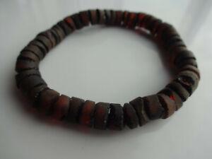 Natural Gemstone Baltic Amber Bracelet - Elastic Stretch