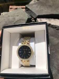 NWT authentic MICHAEL KORSDarci Quartz Black Dial Ladies Watch Gift Mother's Da