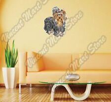 "Cute Puppy Yorkshire Terrier Dog Breed Wall Sticker Room Interior Decor 20""X25"""