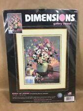 """Dimensions - Gallery Crewel Kit - 2004 -  """"BURST OF SPRING""""  NEW"""