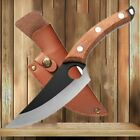 Serbian Forged Boning Knife Full Tang Butcher Hunting Cleaver Kitchen Chef Knife