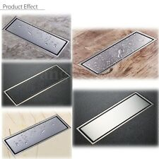 304 Stainless Steel Linear Shower Floor Drain Wetroom Grate 30 x 11cm