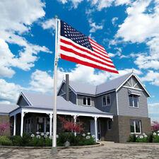 New listing ☆ 25ft Flag Pole Flag Ball 2 Flag Halyard Fly Telescopic Aluminum Flagpole Kit