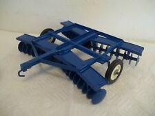 Rare 1/16 Scale Ertl Ford Blue Disc With Blue Rollers (Repaired an repainted)