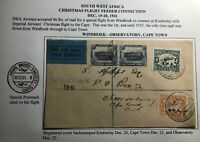 1931 Windhoek South West Africa First Flight Cover FFC To Observatory Cape Town