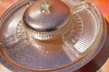 Vintage Copper Tone and Glass Appetizer Lady Susan Serving Set FREE SHIPPING!