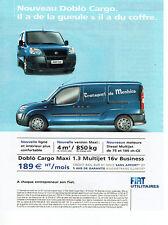 Publicité Advertising 028  2005  Fiat utilitaires fourgon Doblo Cargo