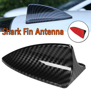 Universal Car Roof Shark Fin Antenna Decor Aerial Cover Sticker Carbon Fiber