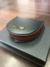 ROGER DUBUIS Leather Coin Purse Black/Dark Red In Box Not sold in stores New