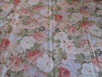 Vintage Pink Roses Single Pillowcase Standard Muslin Cutter Fabric