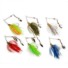iBait 6pcs/lot 14g Spinnerbaits Fishing Hard Spinner Baits Lures Pike Bass Trout