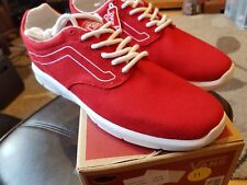 BRAND NEW with box - Vans ISO 1.5  varsity Red true white, size 7