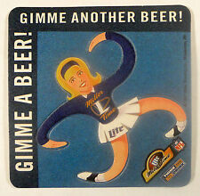 "Miller ""Punch-Out"" Barrel of Monkey's Style NFL Cheerleader Vintage Beer Coaster"