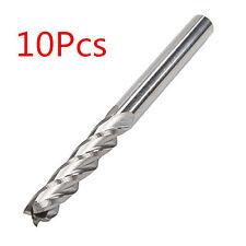 """10x Carbide CNC 4 Flute Spiral Bit End Mill Cutter 1/8"""" Shank 15mm Blade Milling"""