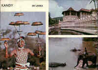 SRI LANKA (Ceylon) Post Card 1983 Kandy Traditional Spots color Mehrbildkarte AK