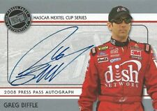 GREG BIFFLE AUTOGRAPHED 2008 PRESS PASS AUTHENTICS NASCAR PHOTO TRADING CARD