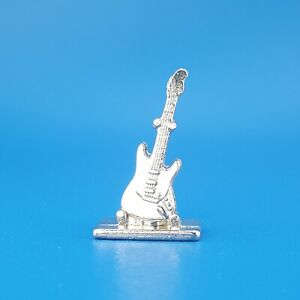 Scene It Music Electric Guitar Silver Token Replacement Game Piece