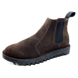 Genuine Rollers Ripple Sole Brown Suede Pull On Boot