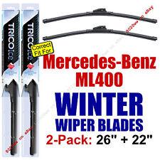 WINTER Wiper Blades 2pk Premium fit 2015 Mercedes-Benz ML400 ML 400 - 35260/220