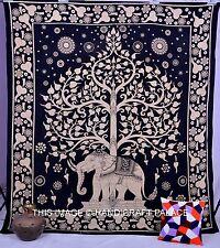 Albero Della Vita da Parete Regina Mandala Cotone Indiano con Arazzo Coperta