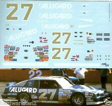 NASCAR DECAL #27 ALUGARD 1986 GRAND PRIX 2+2 RUSTY WALLACE - 1/24 Scale