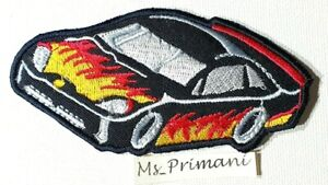 Embroidered Super Car Motor Car  Iron/Sew on Formula 1 Patch Badge 10.5 X 5 CM