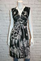 Gabriella Brand Black Jewel Print Sleeveless Day Dress Size S/M BNWT #TM98