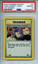 Pokemon Team Rocket Here Comes Team Rocket 15/82 1st Edition Holo PSA 10 Gem