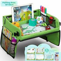 Kids Travel Tray Play Table, Car Seat Erasable Wipeable Drawing Surface Board