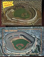 San Francisco Giants Postcards - Vintage 1960's to 1988 ( 2 Total ) Ex. Cond.
