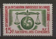 COMORES Droits de l'Homme  Neuf ** MNH  n° 28  Cote : 11,00 euros