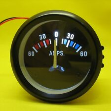 "Ammeter Amp Meter 2"" Inch 52mm Round 12V 60A Amps Battery Gauge Auto Car LED  CB"