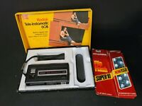 Vintage Kodak Tele-Instamatic Camera 608 with Original Box/paperwork/bonus flash