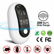 Electronic Ultrasonic Pest Repeller Rats Mosquito Bugs Cockroach Killer Reject