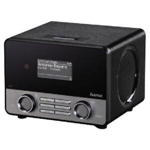Hama IR110M Internetradio schwarz Spotify WLAN LAN Streaming USB Internet Radio