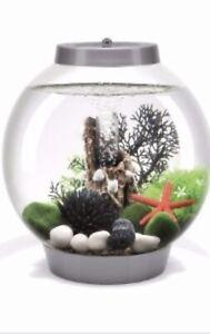 Baby BiOrb 15L Fish Tank Bowl Bundle, Test Kit, Syphon, Net, Plants, & More