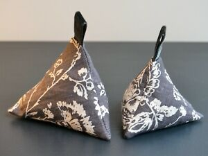 Set of 2 Lavender Bags Cabbages & Roses Black Toile Lovely Fragrant Gift Idea