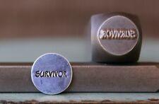 """SUPPLY GUY 10mm """"Survivor"""" Word Metal Punch Design Stamp SGCH-96"""