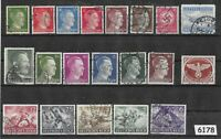 #6178   Mixed stamps Military Adolph Hitler / Germany /  Third Reich 1933 - 1945